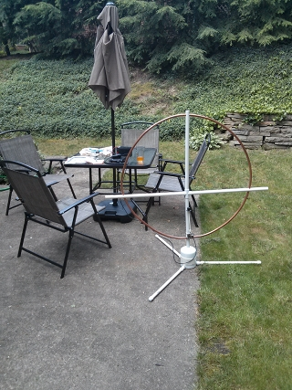 field day station with loop antenna