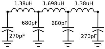 40 meters shortwave low pass filter schematic