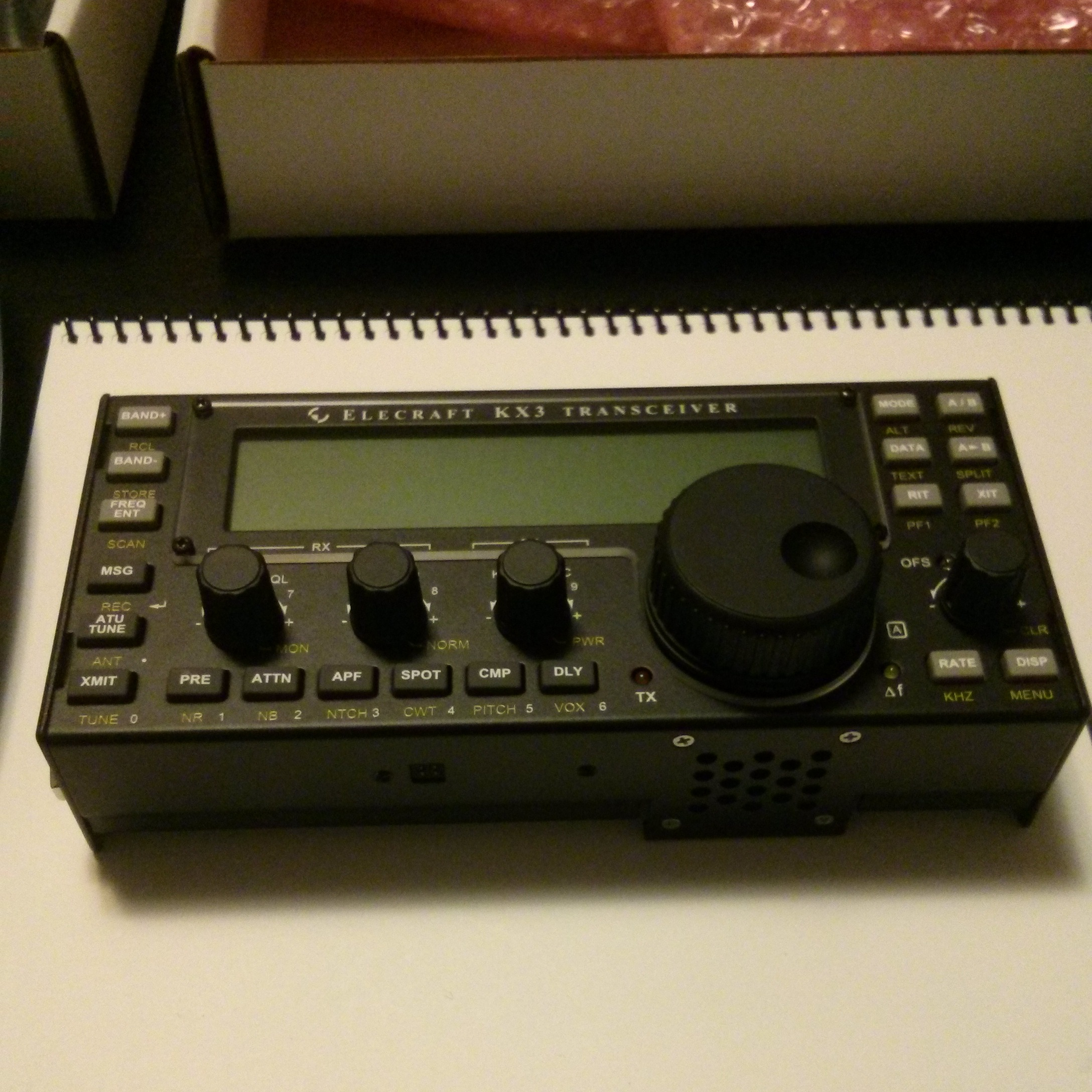 makeRF: New Rig in the Shack: the Elecraft KX3