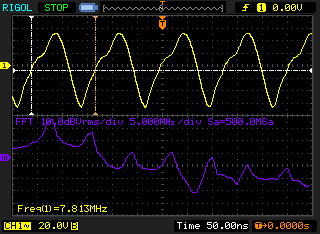 colpitts oscillator waveform