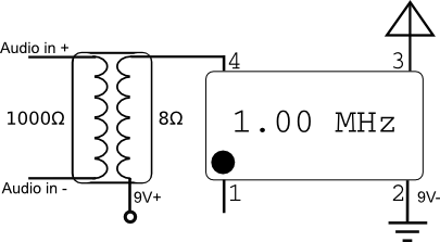 crystal oscillator transmitter modulator
