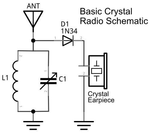 crystal radio schematic