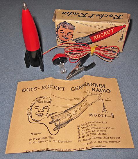 vintage rocket radio