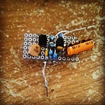 miniature TA7642 radio circuit