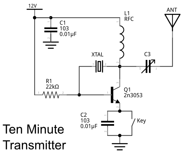 ten minute transmitter schematic